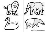 幼児・子供向け はさみの練習プリント 切り絵 動物の切り紙