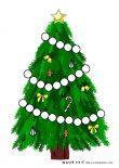 無料ダウンロード:クリスマスツリーのシール台紙(シール枠付き②)