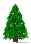 無料ダウンロード:クリスマスツリーのシール台紙(デコ付き)