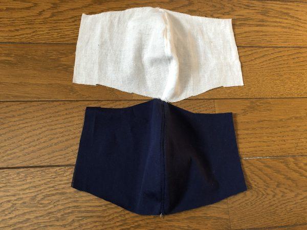 【型紙・手作り】ゴムひもなしマスクの作り方―内側の布も同様に